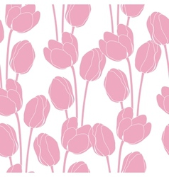 Abstract floral with tulips on pink background vector image vector image