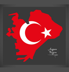 aegean region turkey map vector image vector image