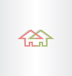 architecture house logo icon home vector image vector image