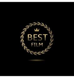 Best film award vector