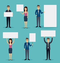 Business people giving presentation with white vector image