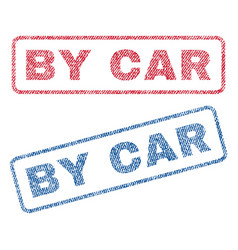 By car textile stamps vector