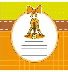 Child card with a giraffe vector image vector image