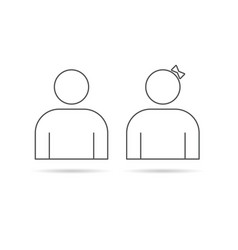 couple line icon vector image vector image