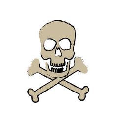 Danger skull bones crossed medicine symbol vector
