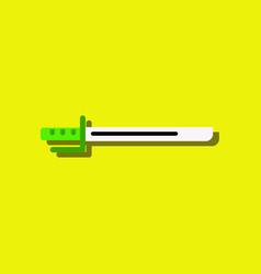 Flat icon design collection military bayonet vector