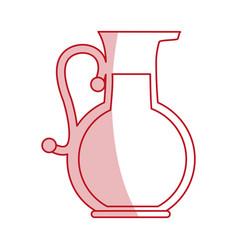 Flat line jug design vector
