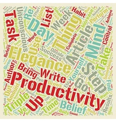 How to triple your productivity in week from now vector