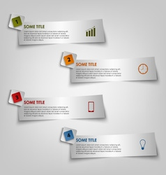 Info graphic to light stripe stickers template vector
