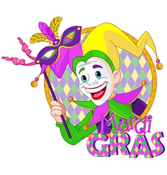 Mardi Gras jester vector image vector image
