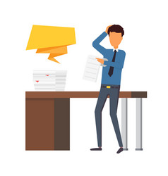 Paper work at office business man making a report vector
