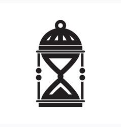 Sand clock silhouette vector
