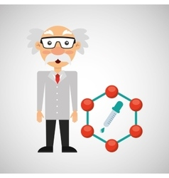 Scientist chemistry concept test dropper vector