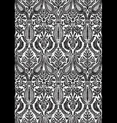 seamless floral damask pattern antique vector image