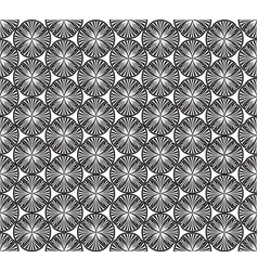 Seamless geometric pattern abstract floral vector