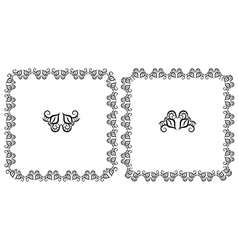 Set openwork floral frame for design vector image vector image