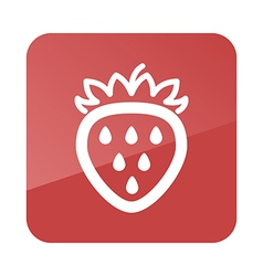 Strawberry outline icon Fruit vector image