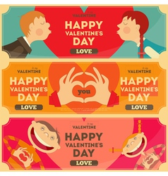 Valentines Day Posters Set vector image vector image