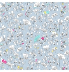 vintage seamless pattern with floral vector image