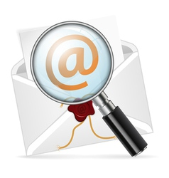 Concept - search e-mail vector image