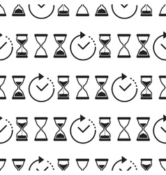 Seamless pattern collection with watches vector