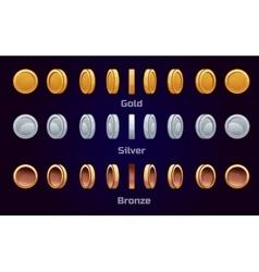 Cartoon set animation coins vector image