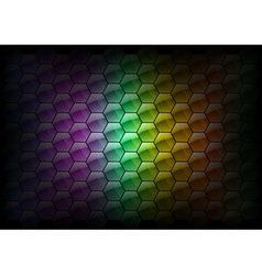 hexagon background rainbow vector image
