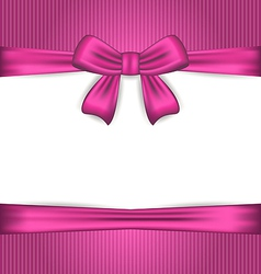 Elegance pink wrapping with ribbon bow vector