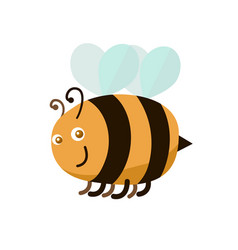 Cartoon color bee vector