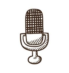 Microphone symbol vector