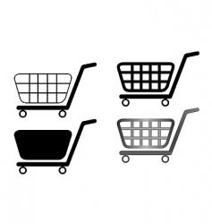 shopping carts vector image