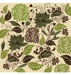 vintage flower background vector image