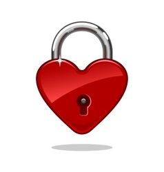 Heartshaped lock vector