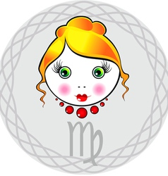 Zodiac signs virgo vector