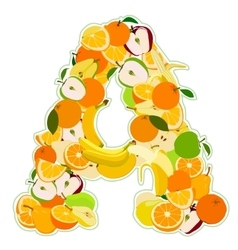 Letter made of fruits vector