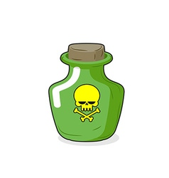 Magic bottle with a skull medical bottle with a vector