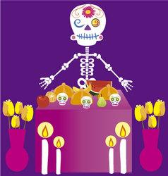 Day of the dead altar de muertos vector