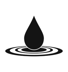 Water drop black simple icon vector image
