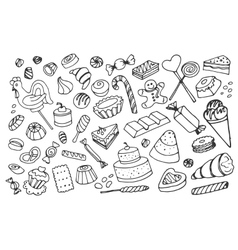 Doodle sweets vector