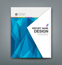 Cover annual report abstract triangles geometric vector