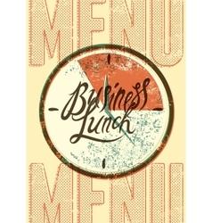 Restaurant menu typographic design vector image