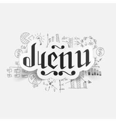 Drawing business formulas menu vector