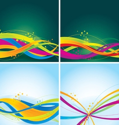 abstract background - colorful wave vector image vector image