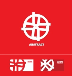 Abstract flat sign logo vector image vector image
