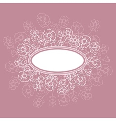 Abstract floral background flower card for design vector image