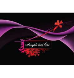 abstract frame with flower vector image vector image