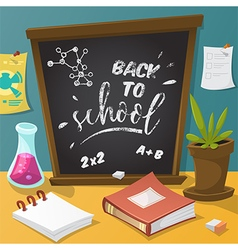 back to school collection of school supplies vector image vector image