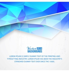 Background blue clouds triangular vector image vector image