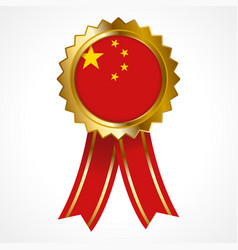 Badge or medal of people republic of china vector