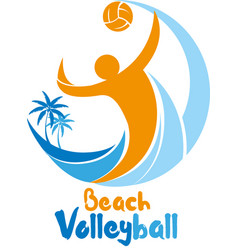 Beach volleyball event vector